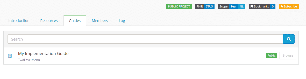 ImplementationGuide in Project