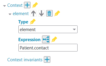 Patient resource and contact element